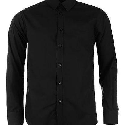 Značková pánská košile Pierre Cardin Long černá