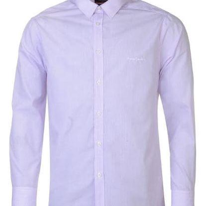 Značková pánská košile Pierre Cardin Long růžová