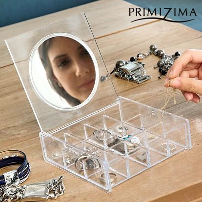 Průhledná Šperkovnice se Zrcátkem Primizima