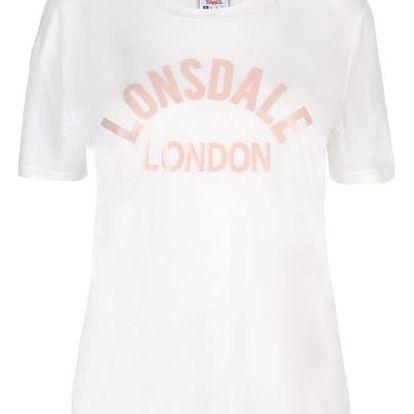 Značkové dámské triko LONSDALE bílé
