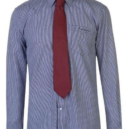 Značková pánská košile s kravatou Pierre Cardin vzor modrá