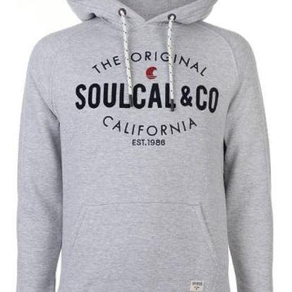 Pánská mikina na zip SoulCal šedá