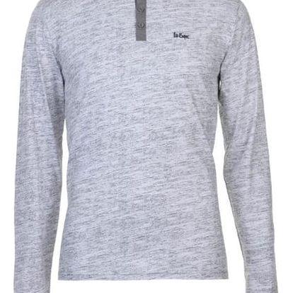 Značkové pánské triko s dlouhým rukávem LEE COOPER Sleeve šedé