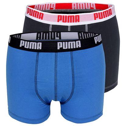 2PACK Pánské Boxerky Puma Blue Long