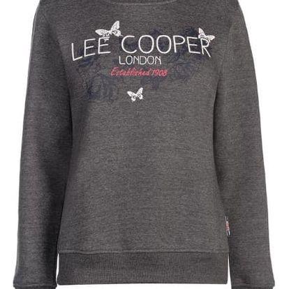 Značková dámská mikina LEE COOPER šedá