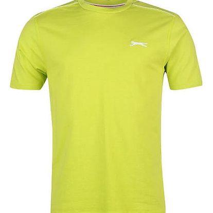 Značkové pánské triko SLAZENGER světle zelená