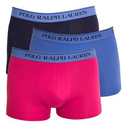 3PACK pánské boxerky Ralph Lauren modro růžové