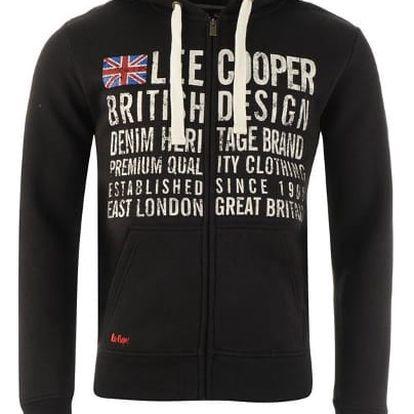 Značková pánská mikina Lee Cooper LDN černá