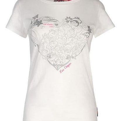 Značkové dámské triko Lee Cooper Fashion bílé