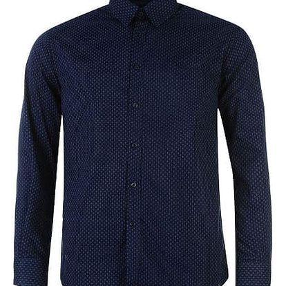 Značková pánská košile Pierre Cardin Long modrá vzor