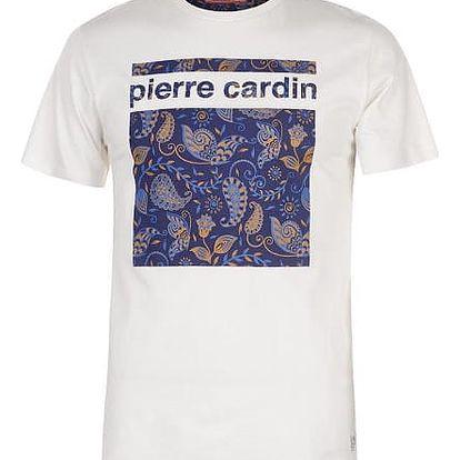 Značkové pánské triko Pierre Cardin Tee bílé vzor 1