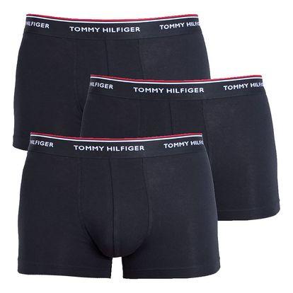 3PACK pánské boxerky Tommy Hilfiger trunk černé