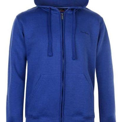 Značková pánská mikina na zip Pierre Cardin modrá