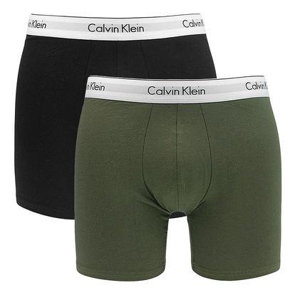 2PACK pánské boxerky Calvin Klein Modern Cotton černé khaki