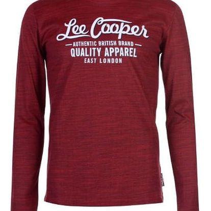 Značkové pánské triko s dlouhým rukávem LEE COOPER Sleeve červené