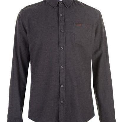 Pánská bavlněná košile Lee Cooper šedá vzor