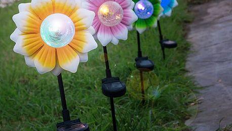 Solární Květina s Barevným LED Oh My Home