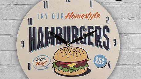 Retro Nástěnné Hodiny Fast Food