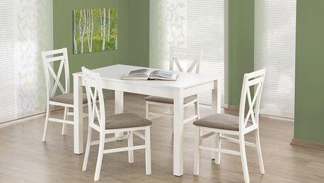 Dřevěný jídelní stůl Ksawery bílá