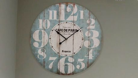 Nástěnné Hodiny Francie Vintage Coconut