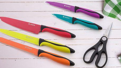 Sada kuchyňských nožů včetně nůžek SWISS Q