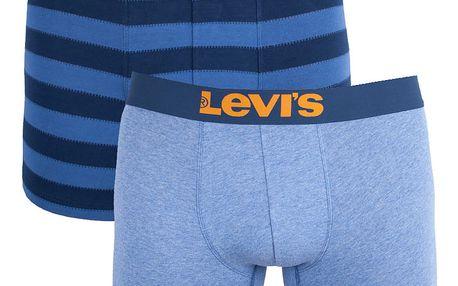 2PACK pánské boxerky Levis modré (971022001 979)