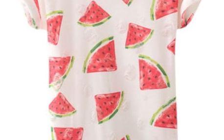 Tričko s ovocným potiskem - banán a meloun
