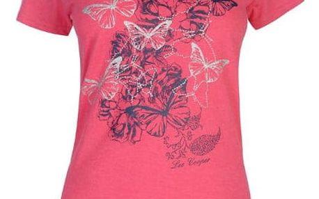 Značkové dámské triko Lee Cooper Fashion tmavě růžové