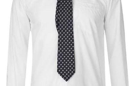 Značková pánská košile s kravatou Pierre Cardin bílá