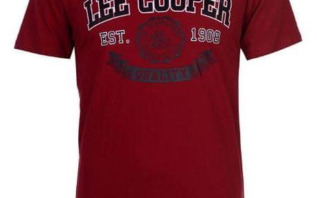 Značkové pánské triko Lee Cooper Vintage červené