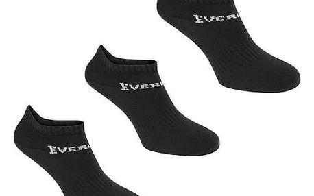 Dámské ponožky nízké EVERLAST 3 ks černé