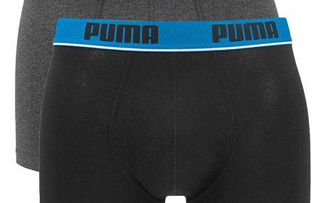 2PACK pánské boxerky Puma black anthracite long