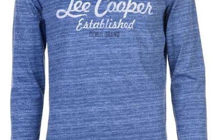 Značkové pánské triko s dlouhým rukávem LEE COOPER Sleeve modré