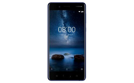 Smartphone Nokia 8, dual SIM, temperovaná modrá 11NB1L01A12
