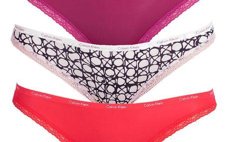 3PACK dámské kalhotky Calvin Klein bikini barevné