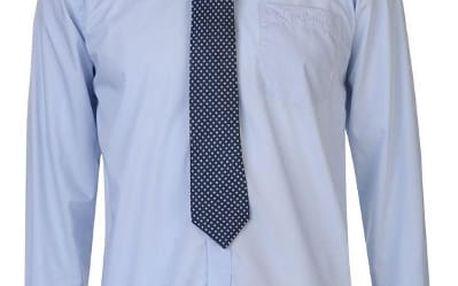 Značková pánská košile s kravatou Pierre Cardin modrá