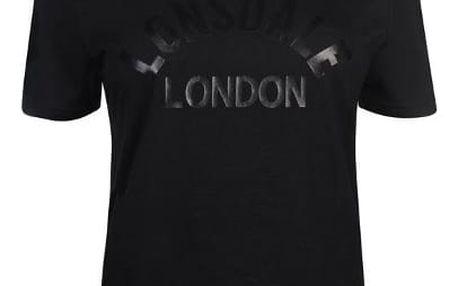 Značkové dámské triko LONSDALE černé