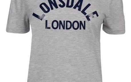 Značkové dámské triko LONSDALE šedé