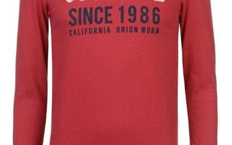Pánské triko s dlouhým rukávem SoulCal červené