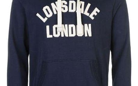 Značková pánská mikina s kapucí LONSDALE modrá
