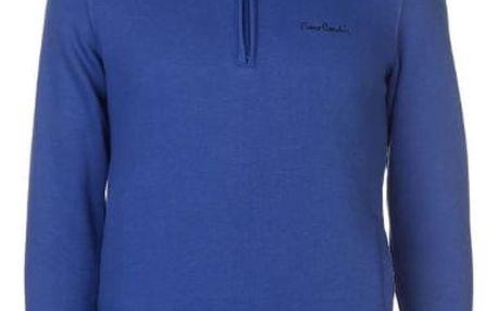 Značková mikina Fleece Pierre Cardin modrá