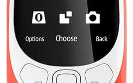 Nokia 3310 (2017), dual SIM, červená