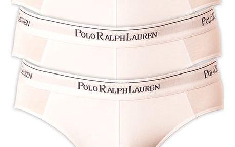 3PACK pánské slipy Ralph Lauren bílá