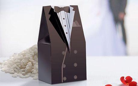 Krabičky na Svatební Výslužku 10 kusů