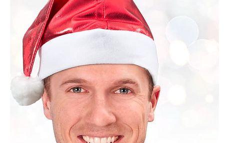 Stříbrná Čapka Santa Clause