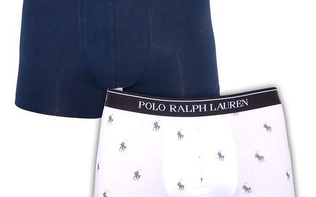2PACK pánské boxerky Ralph Lauren modro bílé s logem