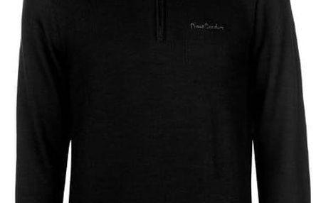 Značková mikina Fleece Pierre Cardin černá