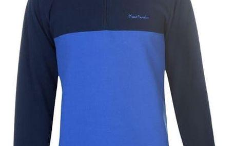Značková mikina Micro Fleece Pierre Cardin modrá
