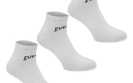 Dámské ponožky nízké EVERLAST 3 ks bílé