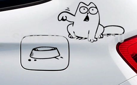 Vtipná samolepka Simon´s cat